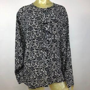 Karen Scott Plus Sz 24W Long Sleeve Blouse